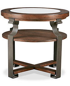 Forge Round End Table, Quick Ship