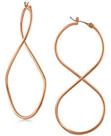 RACHEL Rachel Roy Rose Gold-Tone Twist Drop Earrings