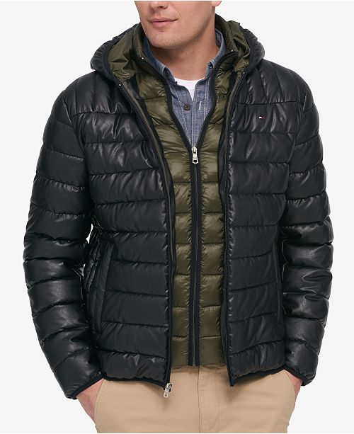 ed7025c5 Tommy Hilfiger Men's Layered Packable Puffer Jacket & Reviews ...