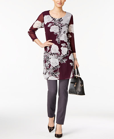 Alfani Printed Tunic & Skinny Pants, Created for Macy's