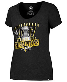 '47 Brand Women's Pittsburgh Penguins Stanley Cup Scoop T-Shirt