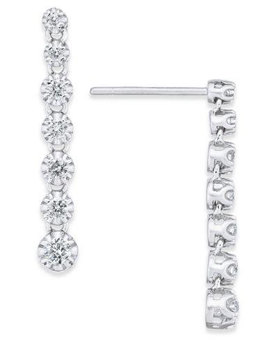 Diamond Dangle Drop Earrings (1/2 ct. t.w.) in 14k White Gold