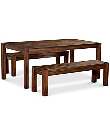 "Avondale Large Dining, 3-Pc. Set (72"" Dining Table & 2 Benches), Created for Macy's"