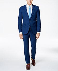 HUGO Men's Slim-Fit High Blue/Black Suit