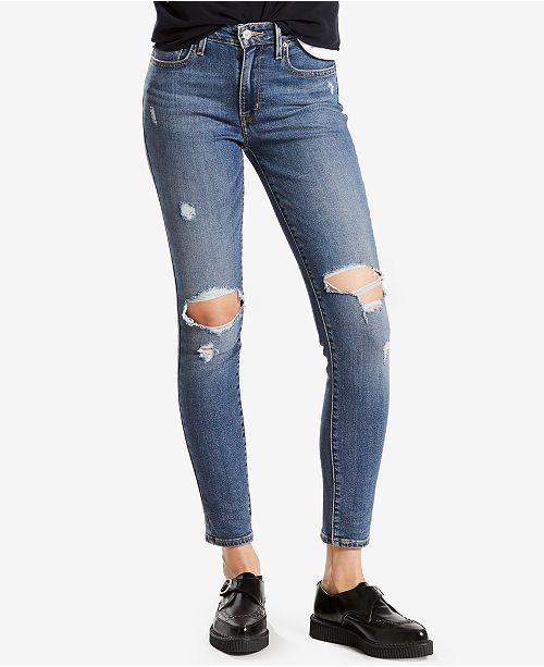 Levi's Skinny Ripped Juniors Rise High Macy's Jeans 721 vq4WwvpR7U