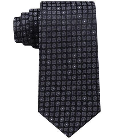 Calvin Klein Men's Modern Medallion Silk Tie