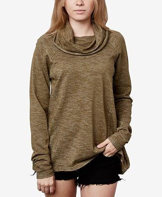 O'Neill Juniors' Cotton Cowl-Neck Sweater - Juniors Sweaters - Macy's