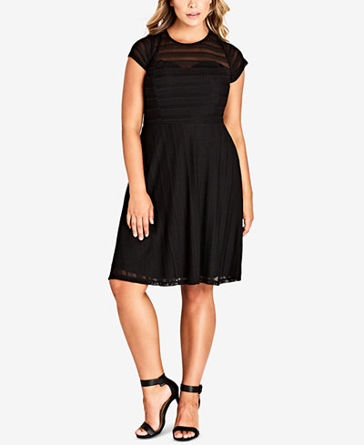 City Chic Trendy Plus Size Textured Dress