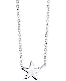 Unwritten Starfish Pendant Necklace in Sterling Silver