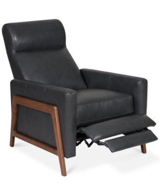 Trumilio Pushback Leather Recliner