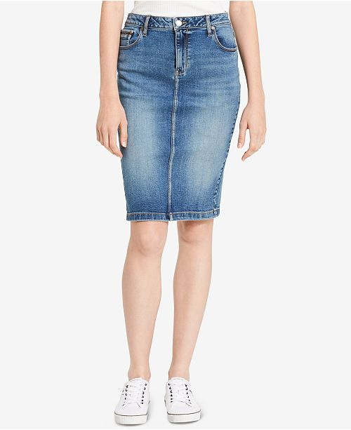 0fc29f0002 Calvin Klein Jeans Denim Pencil Skirt & Reviews - Skirts - Women ...