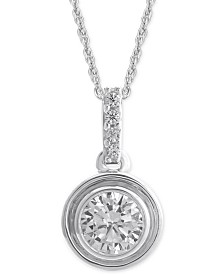 Diamond Bezel Pendant Necklace (1/4 ct. t.w.)