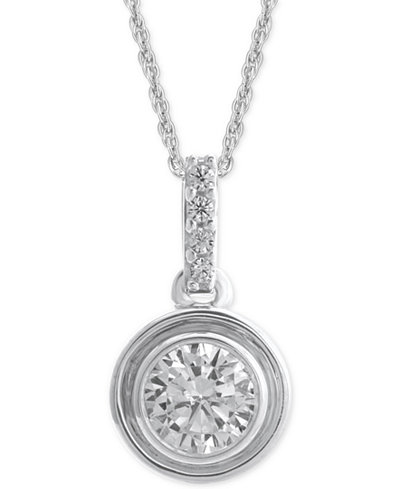 Diamond Bezel Pendant Necklace (1/4 ct. t.w.)