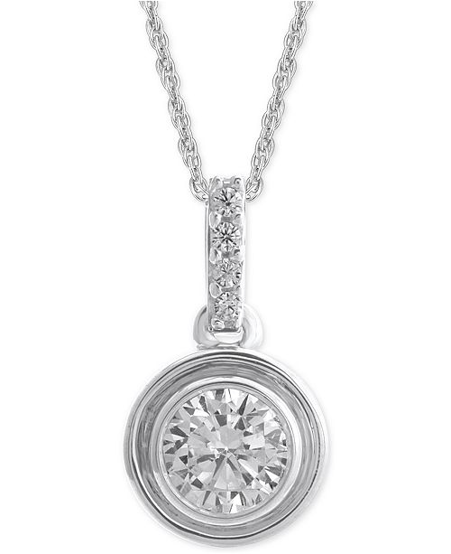 Macy's Diamond Bezel Pendant Necklace (1/4 ct. t.w.)