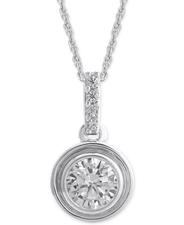 Macy's - Diamond Bezel Pendant Necklace (1/4 ct. t.w.)