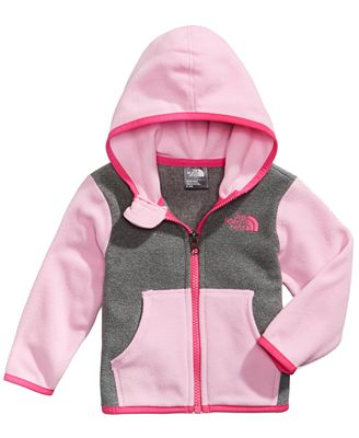 The North Face Glacier Colorblocked Zip Hoodie, Baby Girls
