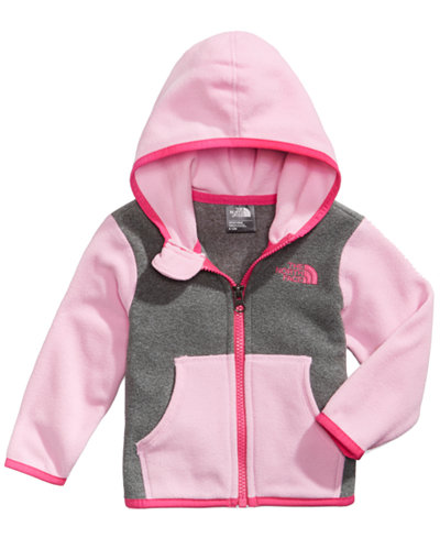 The North Face Glacier Colorblocked Zip Hoodie, Baby Girls (0-24 months)