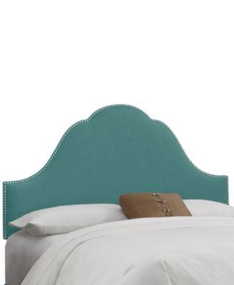 Jenny Nail Button Headboard - King, Quick Ship