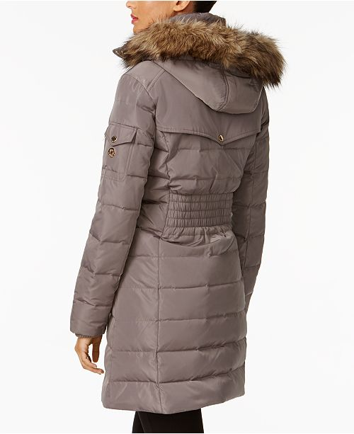 4bec949b837db Michael Kors Faux-Fur-Trim Down Puffer Coat   Reviews - Coats ...