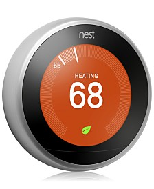 Google Nest Learning Thermostat - 3rd Generation, Stainless Steel