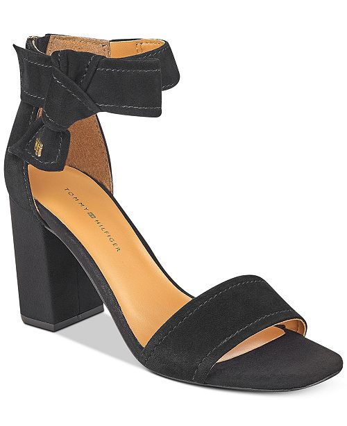 30611112d ... Tommy Hilfiger Sunday Two-Piece Block-Heel Dress Sandals ...