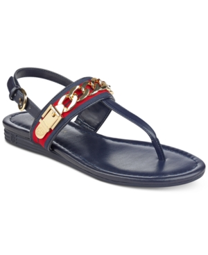Tommy Hilfiger Hakim Flat Thong Sandals Women