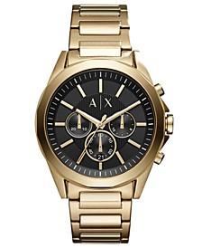 Men's Chronograph Drexler Gold-Tone Stainless Steel Bracelet Watch 44mm