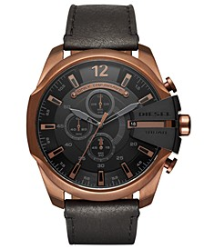 Men's Chronograph Mega Chief Leather Strap Watches