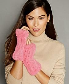 Fingerless Knitted Mink Fur Gloves