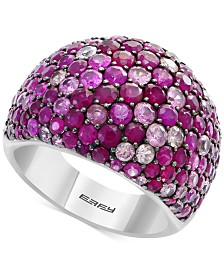 Splash by EFFY® Ruby (3-1/2 ct. t.w.) & Pink Sapphire (2-5/8 ct. t.w.) Ring in Sterling Silver