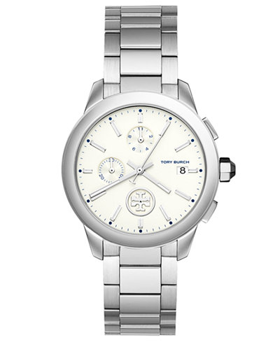 Tory Burch Women's Chronograph Collins Stainless Steel Bracelet Watch 38mm