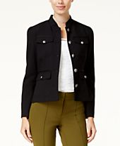 XOXO Juniors' Flap-Pocket Peplum Jacket