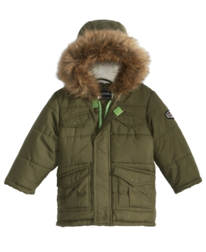 S Rothschild Hooded Puffer Coat With FauxFur Trim Baby Boys (024 months)