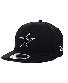 New Era Kids' Houston Astros Black and White Fashion 59FIFTY Fitted Cap