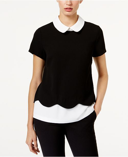 CeCe Layered-Look Top