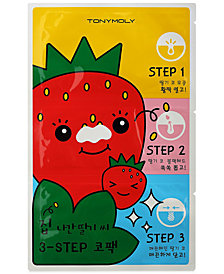 TONYMOLY Runaway Strawberry Seeds 3-Step Nose Pack