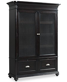 Clinton Hill Ebony Home Office Door Bookcase