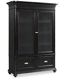 Clinton Hill Ebony Home Office Door Bookcase, Created for Macy's
