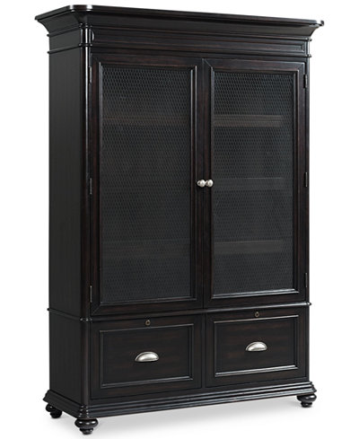 Clinton Hill Ebony Home Office Door Bookcase, Created for Macy's