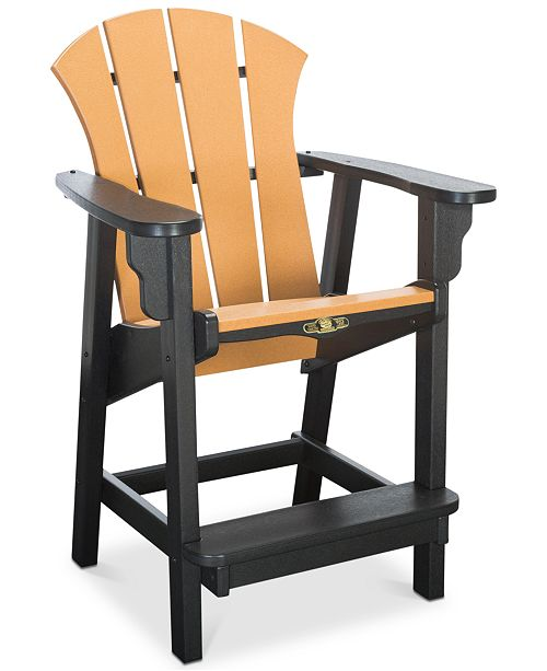 Furniture Sunrise Outdoor Counter Height Adirondack Chair, Quick Ship