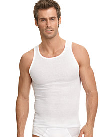 Jockey Men's Big & Tall Classic Ribbed Tagless A-Shirt 2 Pack