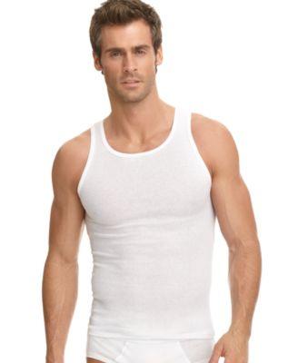 jockey men s underwear classic ribbed tagless tank 3 pack rh macys com mens tank tops target mens tank tops target