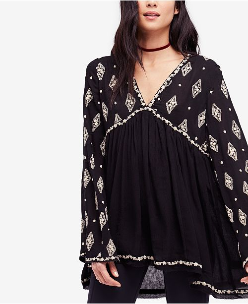 c185e07705da7c Free People Diamond Embroidered Top & Reviews - Tops - Women ...