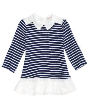Monteau Striped Peter Pan Top, Big Girls (7-16) 4847468
