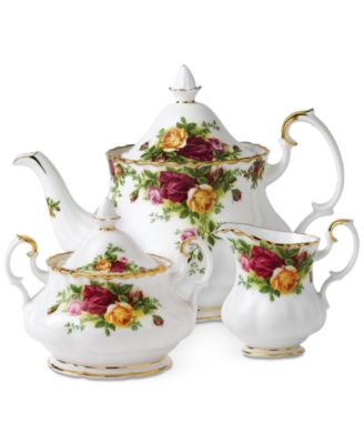 """Old Country Roses"" 3-Piece Tea Set"