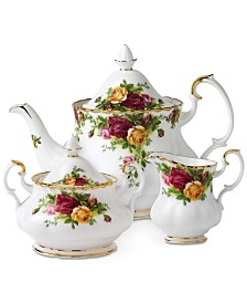 "Royal Albert ""Old Country Roses"" 3-Piece Tea Set"