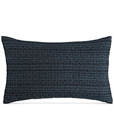 "CLOSEOUT! Hotel Collection Modern Wave Cotton 14"" x 24"" Decorative Pillow, Created for Macy's"