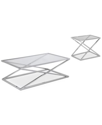 Stylo Rectangle Table Furniture, 2-Pc. Set (Coffee Table and End Table), Created for Macy's
