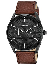 Drive from Citizen Eco-Drive Men's Brown Leather Strap Watch 42mm