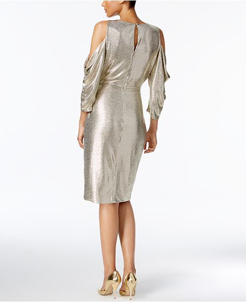Rachel Rachel Roy Cold Shoulder Metallic Wrap Dress Dresses